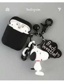 Snoopy Charlie Acomoda La Funda De Silicona De La Carcasa Del Auricular Bluetooth Inalámbrico De Apple