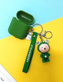 Fashion Frog + Army Green Headphone Case (3rd Generation Pro) Animal Apple Wireless Bluetooth Headset Silicone Case