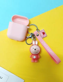 Fashion Pink Rabbit + Pink Headphone Case (3rd Generation Pro) Animal Apple Wireless Bluetooth Headset Silicone Case