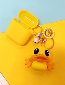 Fashion Yellow Duck + Yellow Headphone Case Duck Case Silicone Apple Wireless Bluetooth Headphone Box