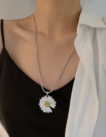 Fashion Necklace Daisy Drop Oil Alloy Necklace Earrings Brooch