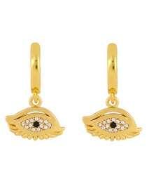 Fashion Eye Cross-eye Copper-set Zircon Openwork Earrings