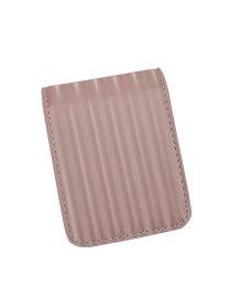 Fashion Pink Stripe Wallet With Mirror Lipstick