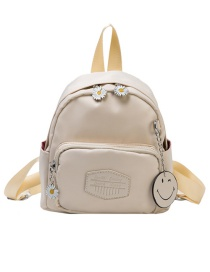 Fashion Beige Small Daisy Letter Crossbody Backpack