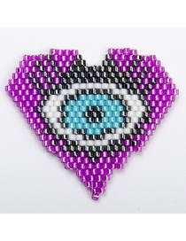 Fashion Purple Eyes Imported Mizhu Hand-woven Love Jewelry Accessories