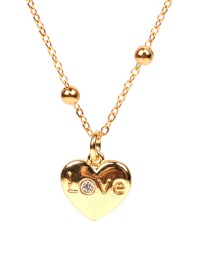 Fashion Love Love Letter Stainless Steel Diamond Bead Necklace