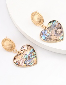 Fashion Love Round Heart Alloy Resin Geometric Earrings