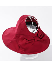 Fashion Red Bow-shade Solid Color Empty Top Hat