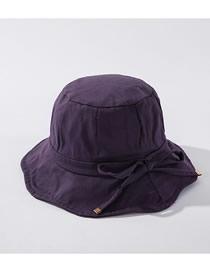 Sombrero De Pescador De Algodón Con Cordón Lateral Irregular