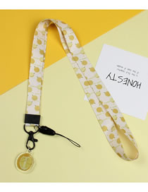 Fashion Durian Mobile Phone Lanyard With Printed Animal Broadband Braid