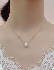 Fashion Golden Ping An Buckle Natural Freshwater Pearl Baroque 14k True Gold Plating Necklace