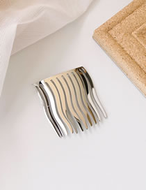Fashion Silver (large) Alloy Wave Pattern Hairpin
