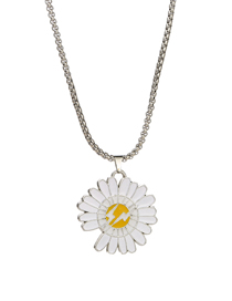 Fashion Lightning Daisy Small Daisy Lightning Drop Alloy Necklace