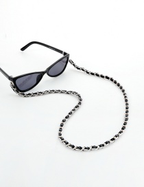 Fashion White K Geometric Single-layer Chain Handmade Flannel Winding Glasses Chain