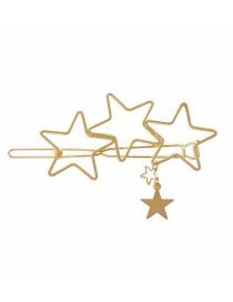 Fashion Pentagram Five-pointed Star Geometric Love Alloy Hollow Hairpin