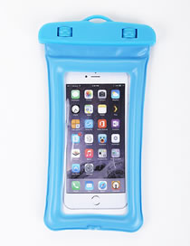 Fashion Blue Inflatable Touch Screen Floating Cell Phone Waterproof Bag