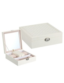 Fashion White Multifunctional Jewelry Box With Mirror