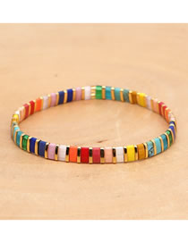 Fashion Color Mixing High Elastic Hand-beaded Bracelet