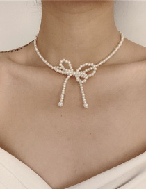 Fashion White Openwork Pearl Necklace