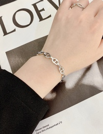 Fashion Silver Geometric Hollow Spiral Alloy Opening Bracelet