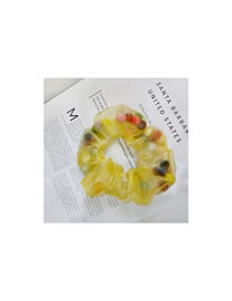 Fashion Yellow Eugen Yarn Colored Bowel Hair Rope