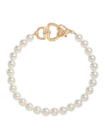 Fashion Pearl Love Heart Alloy Imitation Pearl Necklace