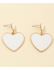 Fashion White Love Dropping Alloy Earrings