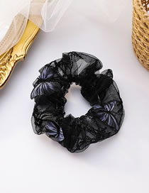 Fashion Black Three-dimensional Butterfly Lace Large Intestine Loop Hair Rope