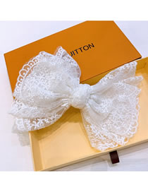 Fashion Bow Tie Lace Bow Rhinestone Letter Hairpin