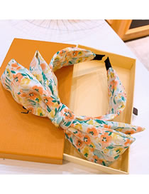 Fashion Yellow Floral Double Bow Headband