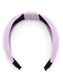 Fashion Purple Knotted Knitting Cross Solid Color Headband