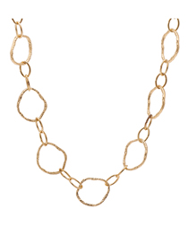 Fashion Golden Geometric Chain Alloy Hollow Necklace