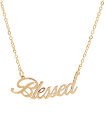 Fashion Golden Alloy Letter Hollow Necklace
