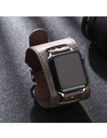 Fashion Dark Green Wishiwatch Leather Alloy Smart Watch (watchband)