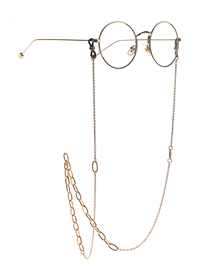 Fashion Golden Stainless Steel Color-preserving Gold-plated Glasses Chain