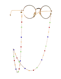 Fashion Color Handmade Colorful Crystal Chain Glasses Chain