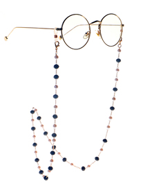 Fashion Golden 8mm Crystal Pearl Anti-skid Glasses Chain