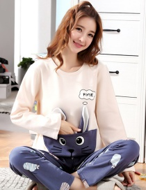Fashion Little Chinchilla Pure Cotton Long Sleeve Printed Home Service Suit