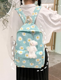 Fashion Light Green Nylon Daisy Print Backpack