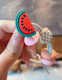Fashion Watermelon Fruit Resin Geometric Knotted Hair Rope