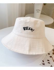 Fashion Letters-beige Head Circumference About 48-53cm About 3-8 Years Old Alphabet Bicycle Embroidery Children Sunscreen Fisherman Hat