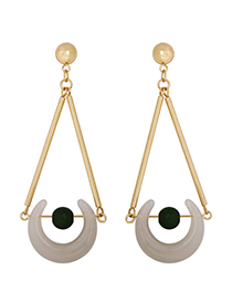 Fashion Golden Crescent Long Earrings