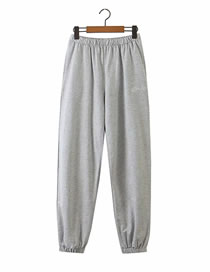 Fashion Gray Sports Sweater Elastic Suit Trousers