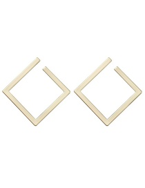 Fashion Yellow Geometric Square Alloy Earrings