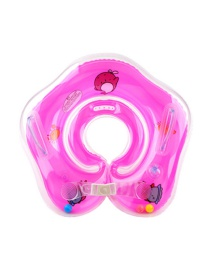 Fashion Pink Baby Collar Inflatable Infant Swimming Neck Ring With Double Airbags