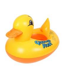 Fashion Big Yellow Duck Water Boat Baby Cartoon Pvc Rhubarb Duck Inflatable Swimming Ring