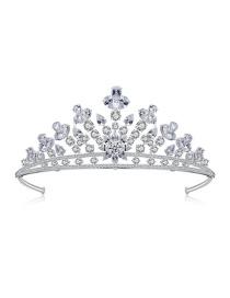 Fashion White Gold Bridal Crown Hairband Accessories