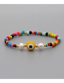Fashion Yellow Colorful Rice Pearl Pearl Bracelet