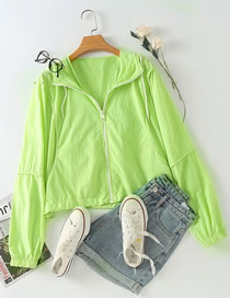 Fashion Fruit Green Zip Windproof Sports Jacket