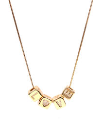 Fashion Love Love Necklace With Letters And Cubes